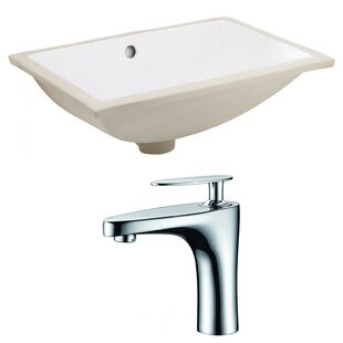 Best Ceramic Rectangular Undermount Bathroom Sink with Faucet and Overflow ByRoyal Purple Bath Kitchen