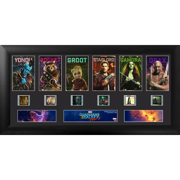 Marvel's Guardians of the Galaxy Vol. 2 Deluxe FilmCells Framed Photographic Print on Wood by Trend Setters