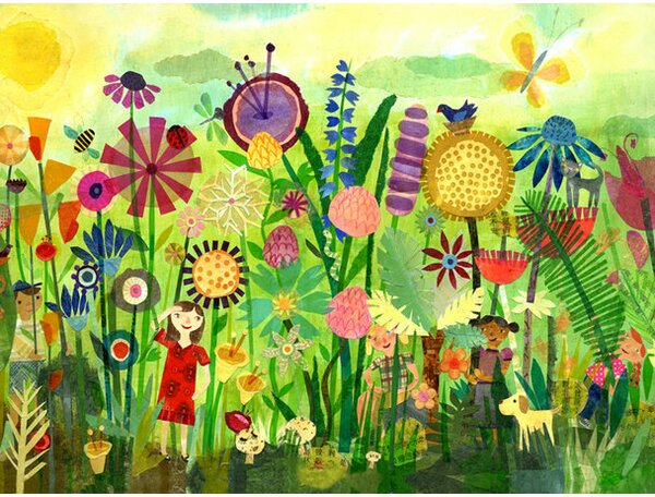 Garden Play Time Canvas Art by Oopsy Daisy