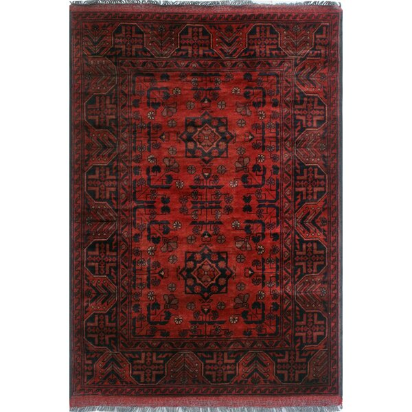 One-of-a-Kind Millar Kokumo Hand-knotted Wool Red Area Rug by Bloomsbury Market