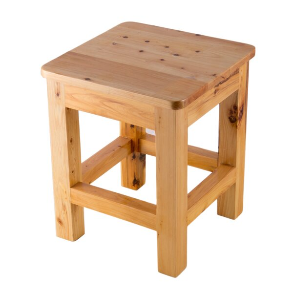 Square Wooden Accent Stool by Alfi Brand