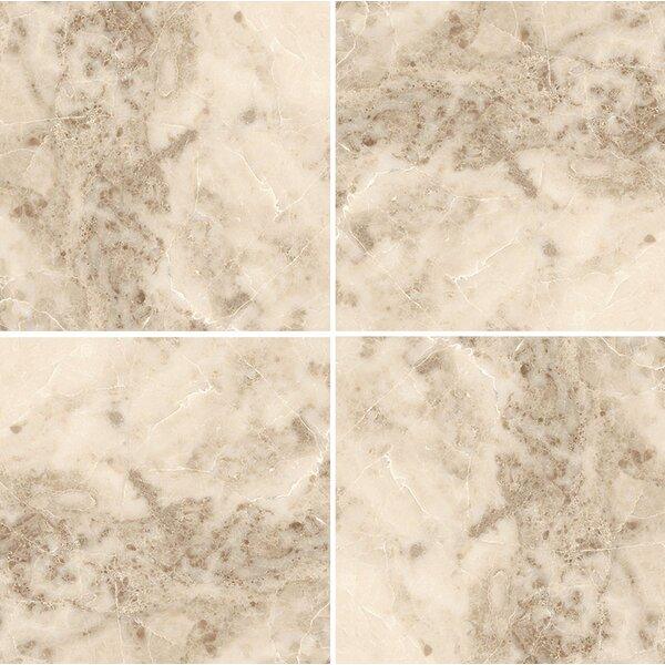 12 x 12 Marble Field Tile in Cappuccino Polished by Parvatile