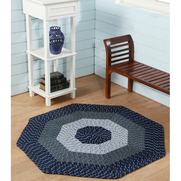 McClure Stripe Blue Area Rug by August Grove