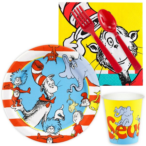 85 Piece Dr. Seuss Paper and Plastic Classics Snack Pack Set by NA
