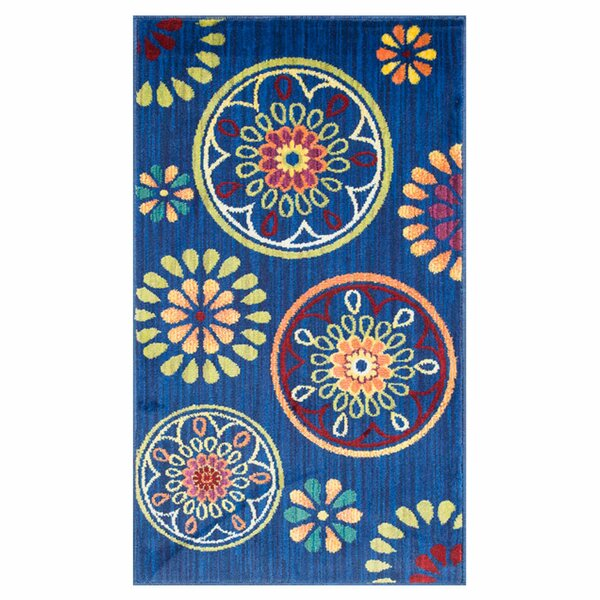 Nanava Blue Area Rug by Ebern Designs