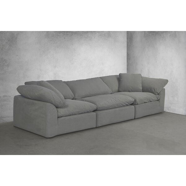Sunset Trading Cloud Puff Slipcovered 3 Piece Modular Sectional By Latitude Run