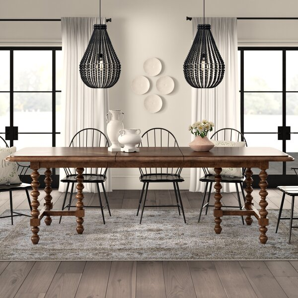 Eoin Solid Wood Extendable Dining Table by Ophelia & Co.