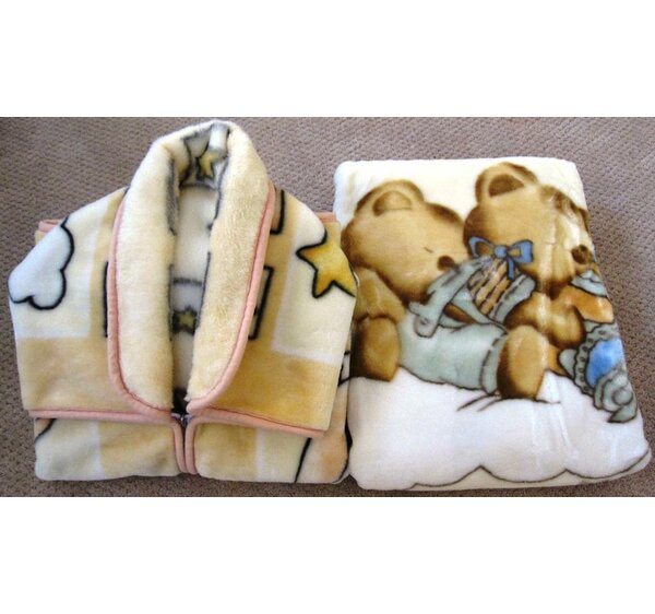 Julianna Baby Snuggle and Baby Blanket Set 2 Pieces by Harriet Bee