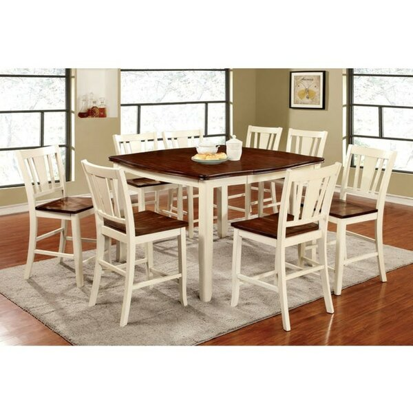 Moon Counter Height 9 Piece Pub Table Set by Winston Porter