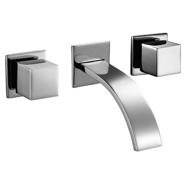 Two Square Handle Angular Modern Lavatory Wall Mounted Bathroom Faucet By Valley Acrylic Ltd.