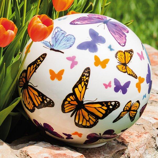 Fluttering Butterflies Gazing Globe by August Grove