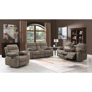 Erminia 3 Piece Velvet Reclining Living Room Set by Red Barrel Studio®