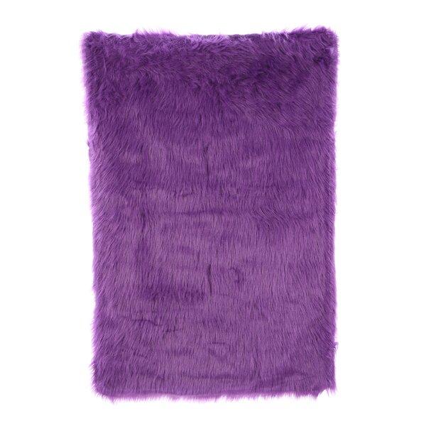 Flokati Purple Area Rug by Fun Rugs