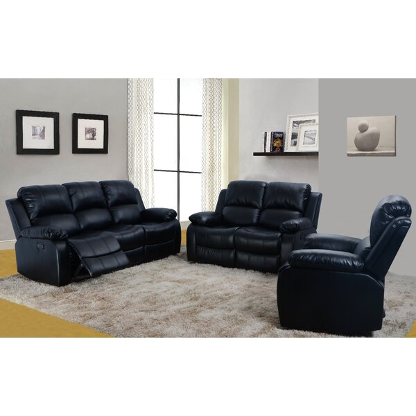 Murchison 3 Piece Reclining Living Room Set by Red Barrel Studio