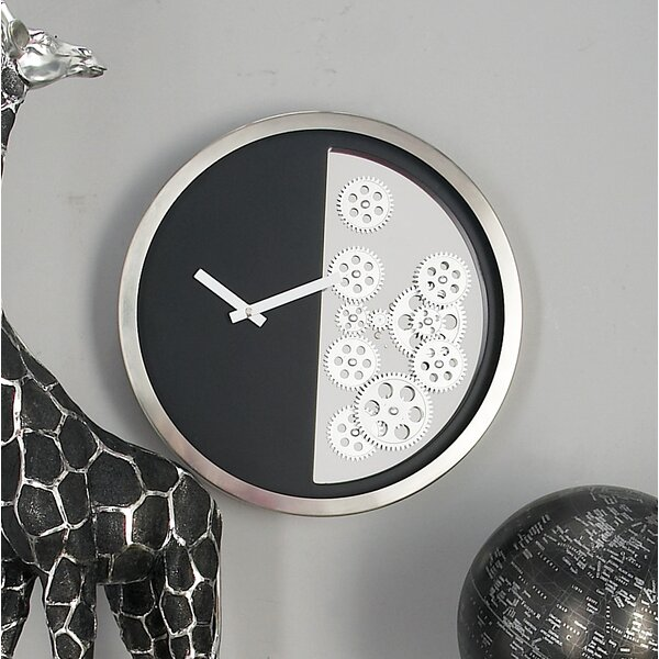 Stainless Steel Gear 18 Wall Clock by Cole & Grey