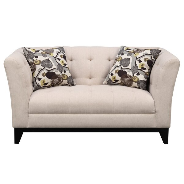 Woolfolk Chesterfield Loveseat by Red Barrel Studio