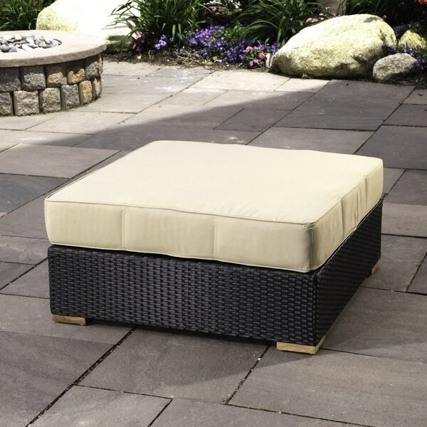 Salina Outdoor Teak Ottoman with Cushion by Madbury Road