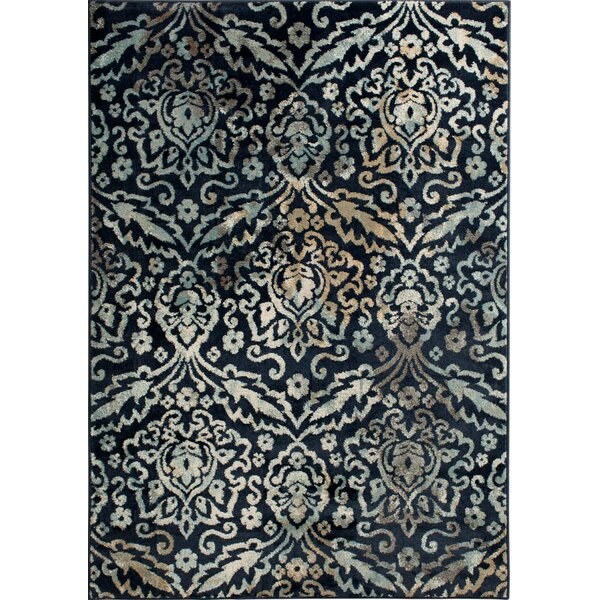 Rattlesnake Hill Grand River Navy Area Rug by Bungalow Rose