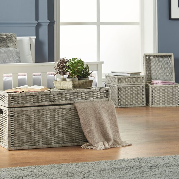 Wicker Storage Trunk Set by VonHaus