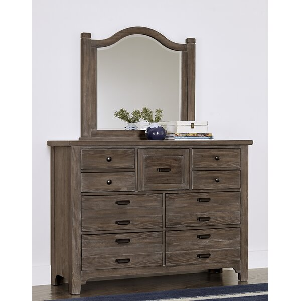 Erving 9 Drawer Double Dresser with Mirror by Darby Home Co