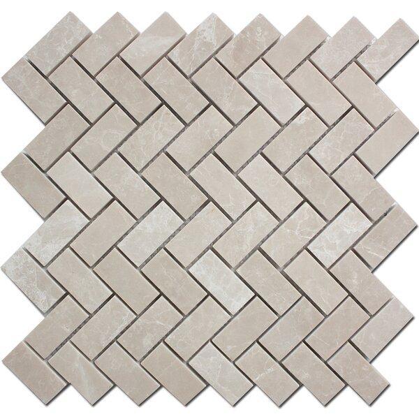 Herringbone 1 x 2 Marble Mosaic Floor Tile