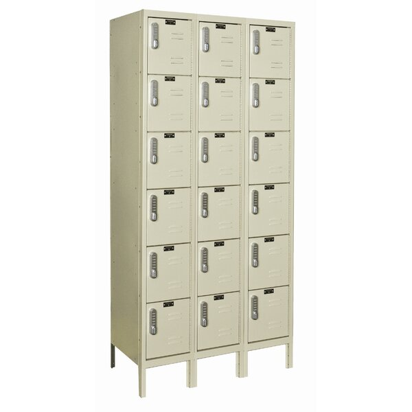 DigiTech 6 Tier 3 Wide Employee Locker by Hallowell