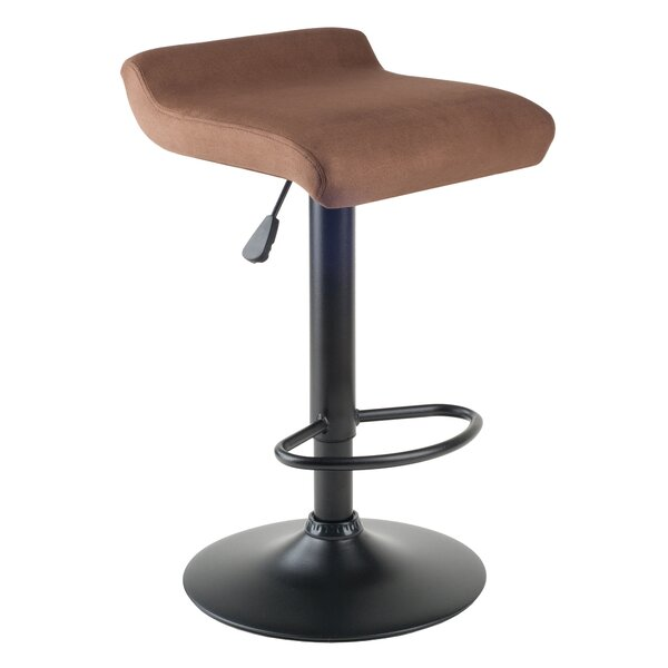 Varroville Adjustable Height Swivel Bar Stool by Latitude Run