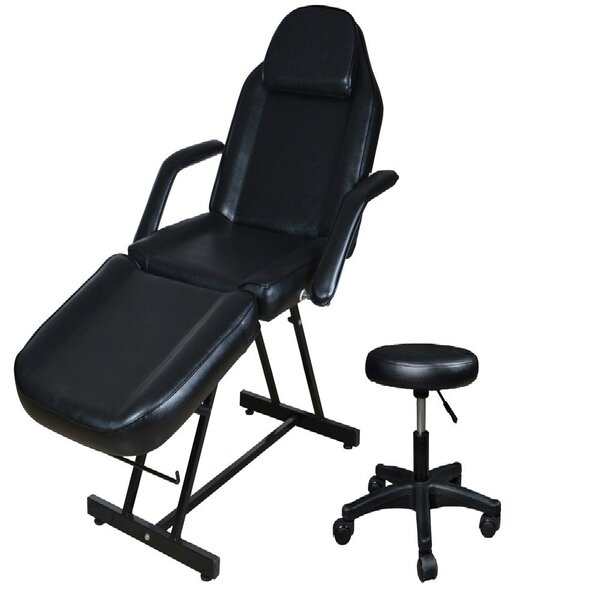 Tattoo Bed Facial Beauty Barber Reclining Adjustable Width Massage Chair By Symple Stuff