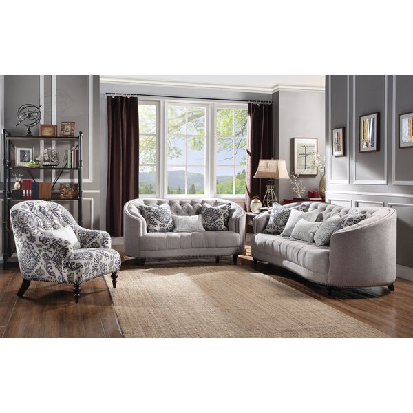 Clarendon Configurable 3 Piece Living Room Set by World Menagerie