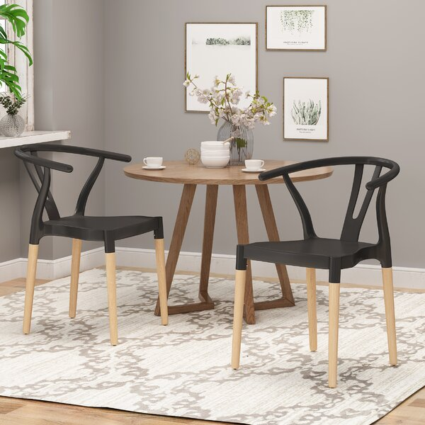 Bogue Solid Wood Dining Chair (Set of 2) by Corrigan Studio