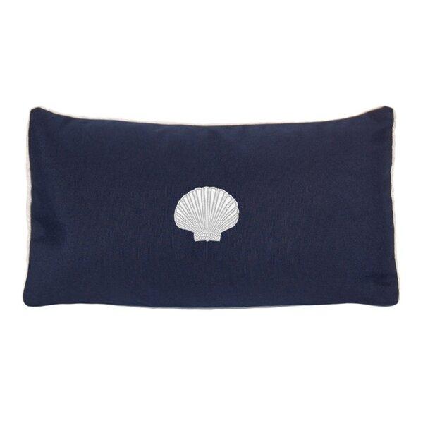Mirabal Scallop Beach Outdoor Sunbrella Lumbar Pillow by Beachcrest Home