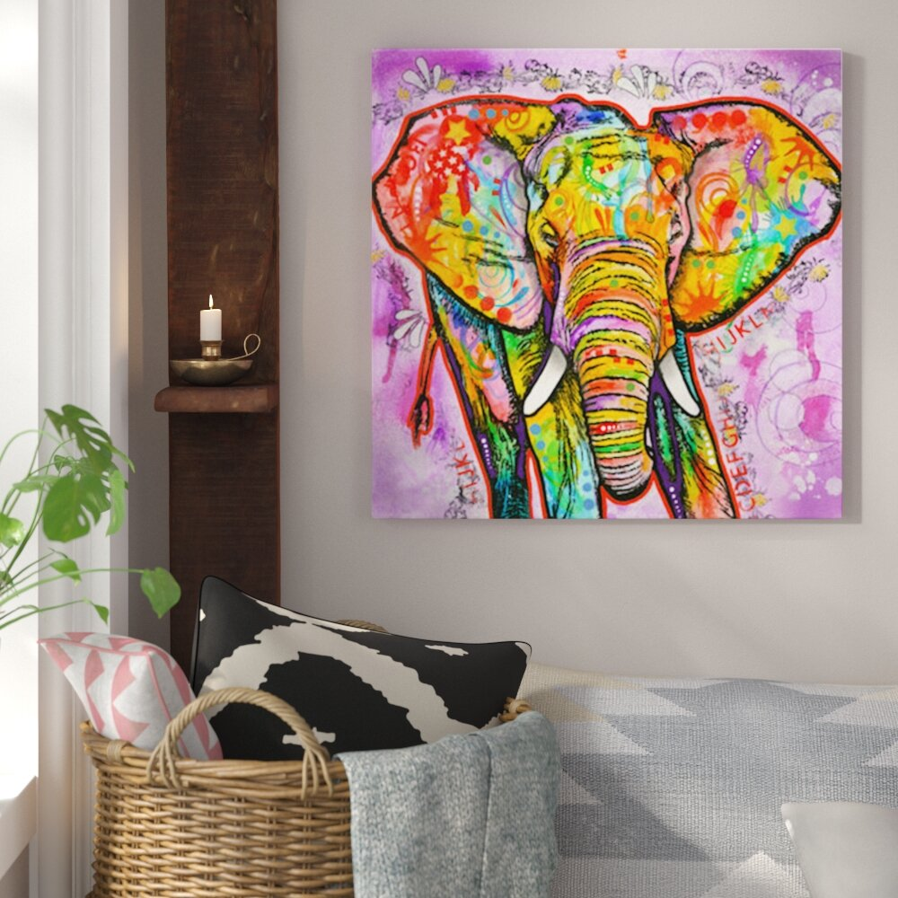 Bungalow Rose Elephant Painting Print On Canvas Reviews