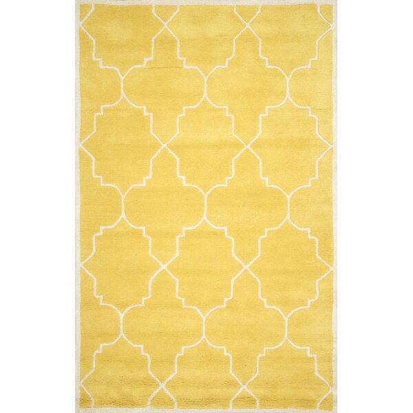Lalande Hand-Tufted Wool Yellow Area Rug by nuLOOM