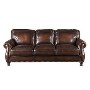 Wonderful Trecartin Genuine Leather Sofa