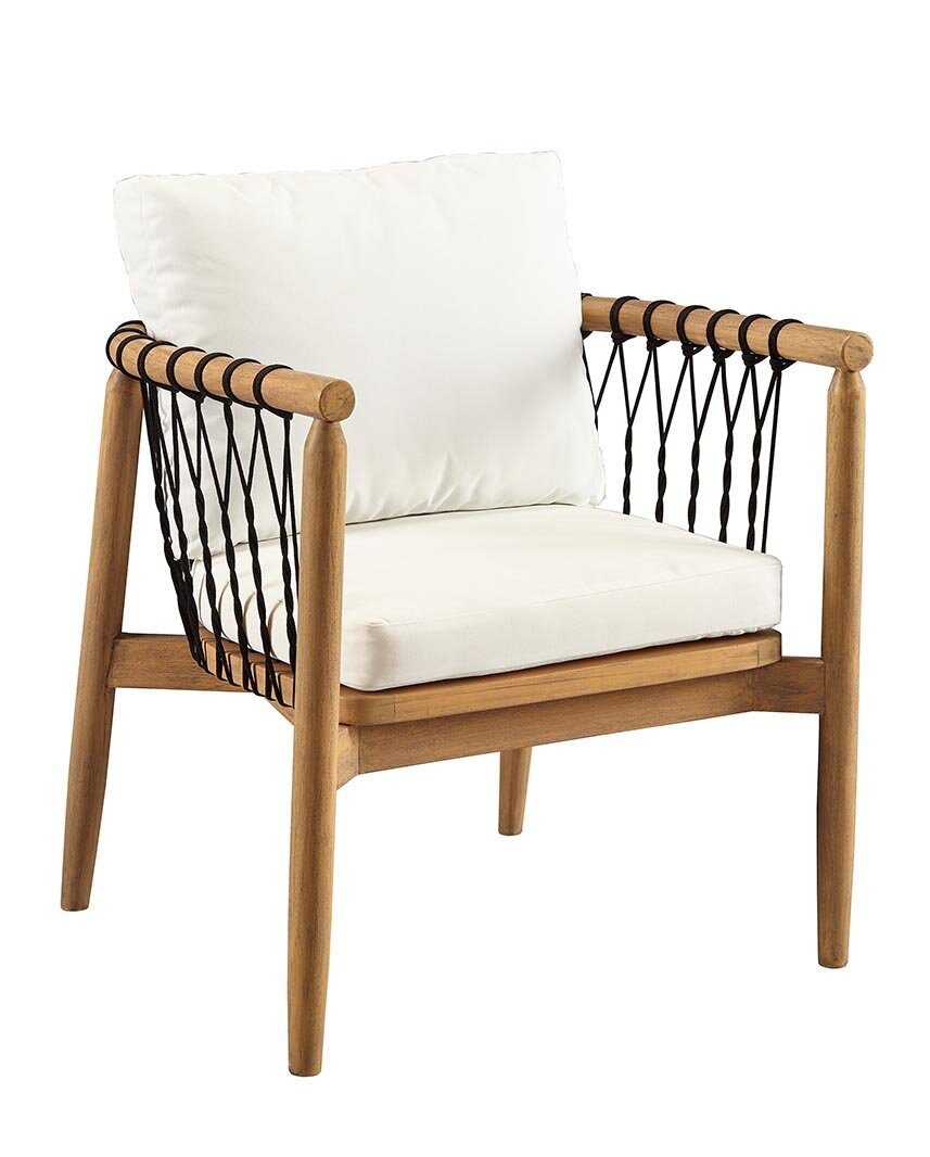 Bungalow Rose Bakerstown Teak Patio Chair With Cushions Wayfair