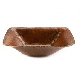 Comparison Old World Metal Rectangular Vessel Bathroom Sink ByPremier Copper Products