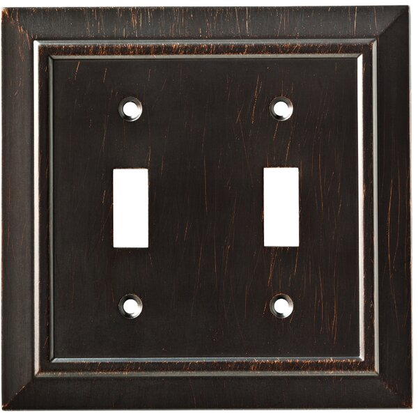 Classic Architecture Double Switch Wall Plate by Franklin Brass