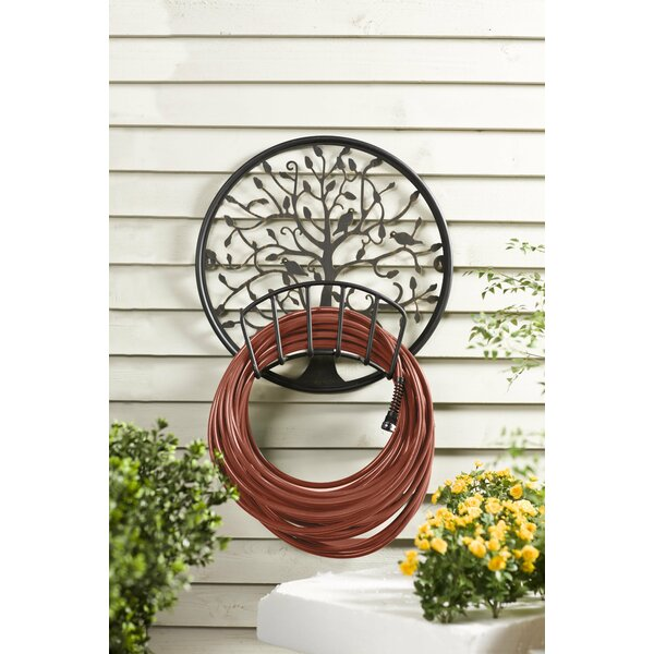 Tree of Life Metal Wall Mounted Hose Holder by Plow & Hearth