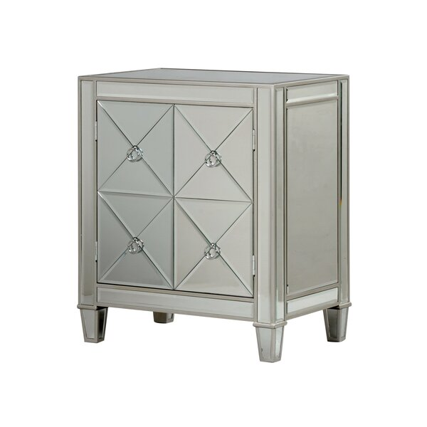 Monroe Street Beveled Mirror 2 Door Accent Cabinet by House of Hampton House of Hampton
