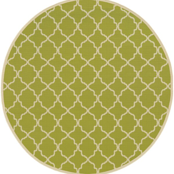 Heidy Green/Ivory Geometric Indoor/Outdoor Area Rug by Zipcode Design