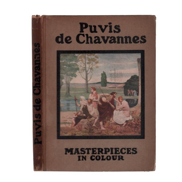 Authentic Decorative Books - Collectible 1912 Puvis de Chavannes by Booth & Williams