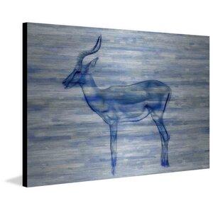 'Gazelle' by Parvez Taj Painting Print on Brushed Aluminum by Parvez Taj