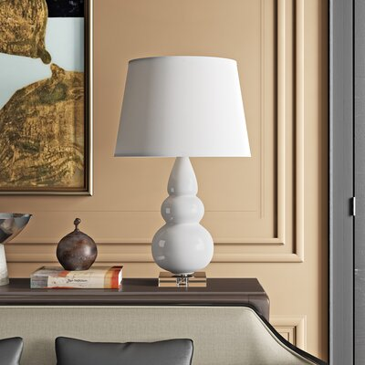 Triple Gourd Glazed Ceramic and Lucite