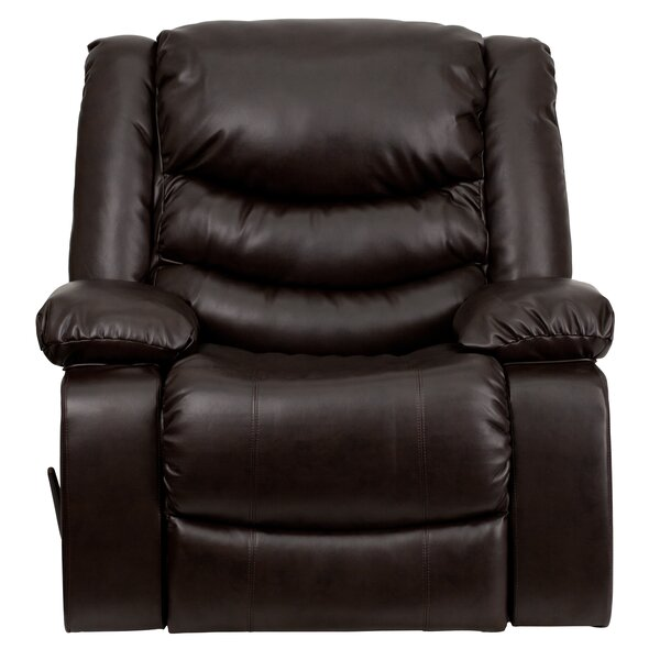 Akirah Leather Manual Rocker Recliner [Red Barrel Studio]