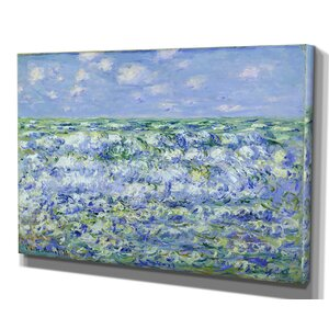 'Waves Breaking' by Claude Monet Framed Painting Print by Wexford Home