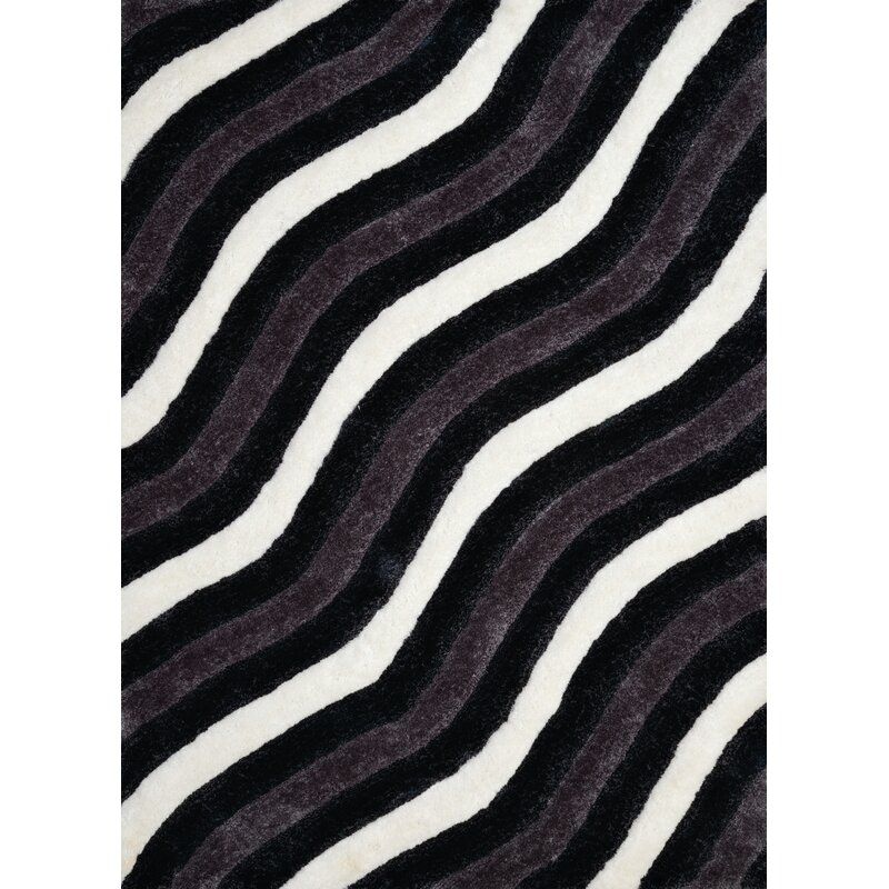 Wrought Studio Fitts Black Area Rug Reviews Wayfair