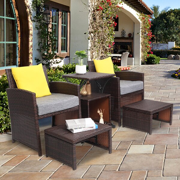 Alexica 6 Piece Sectional Seating Group with Cushions by Latitude Run