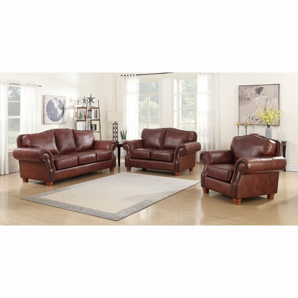 Vranduk 3 Piece Leather Living Room Set by Canora Grey