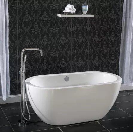 31.5 x 29.5 Freestanding Soaking Bathtub by Miseno