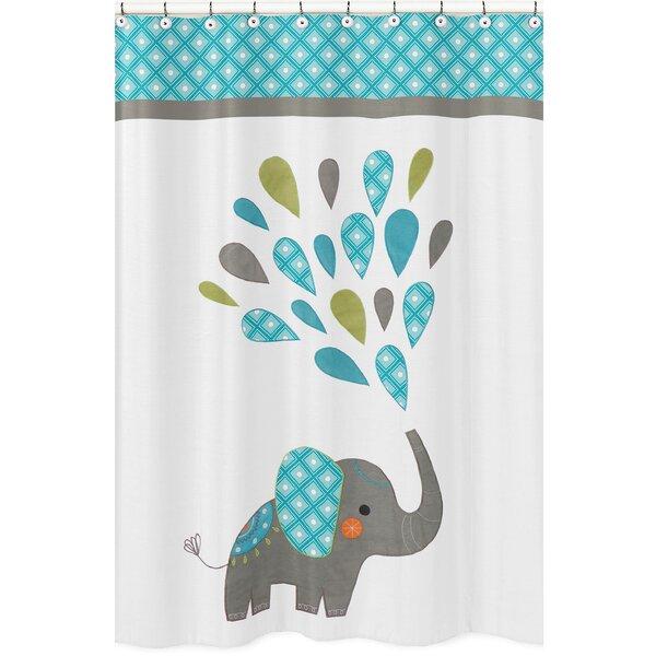 Mod Elephant Shower Curtain by Sweet Jojo Designs